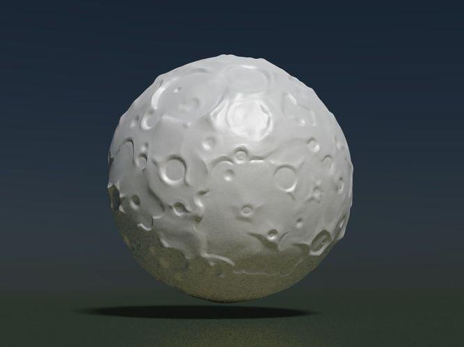 moon high poly 3d model obj mtl 3ds fbx stl blend 1