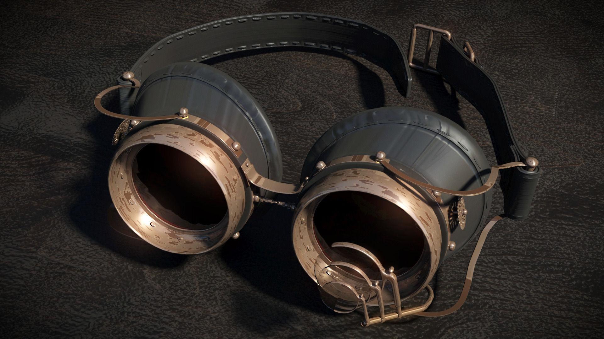 8144b81c82 steam punk goggles 3d model 3d model max obj mtl 3ds 1 ...