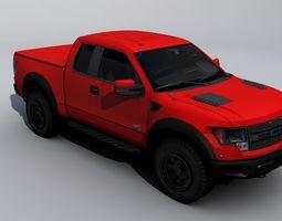 Raptor F-150 pickup 3D asset VR / AR ready