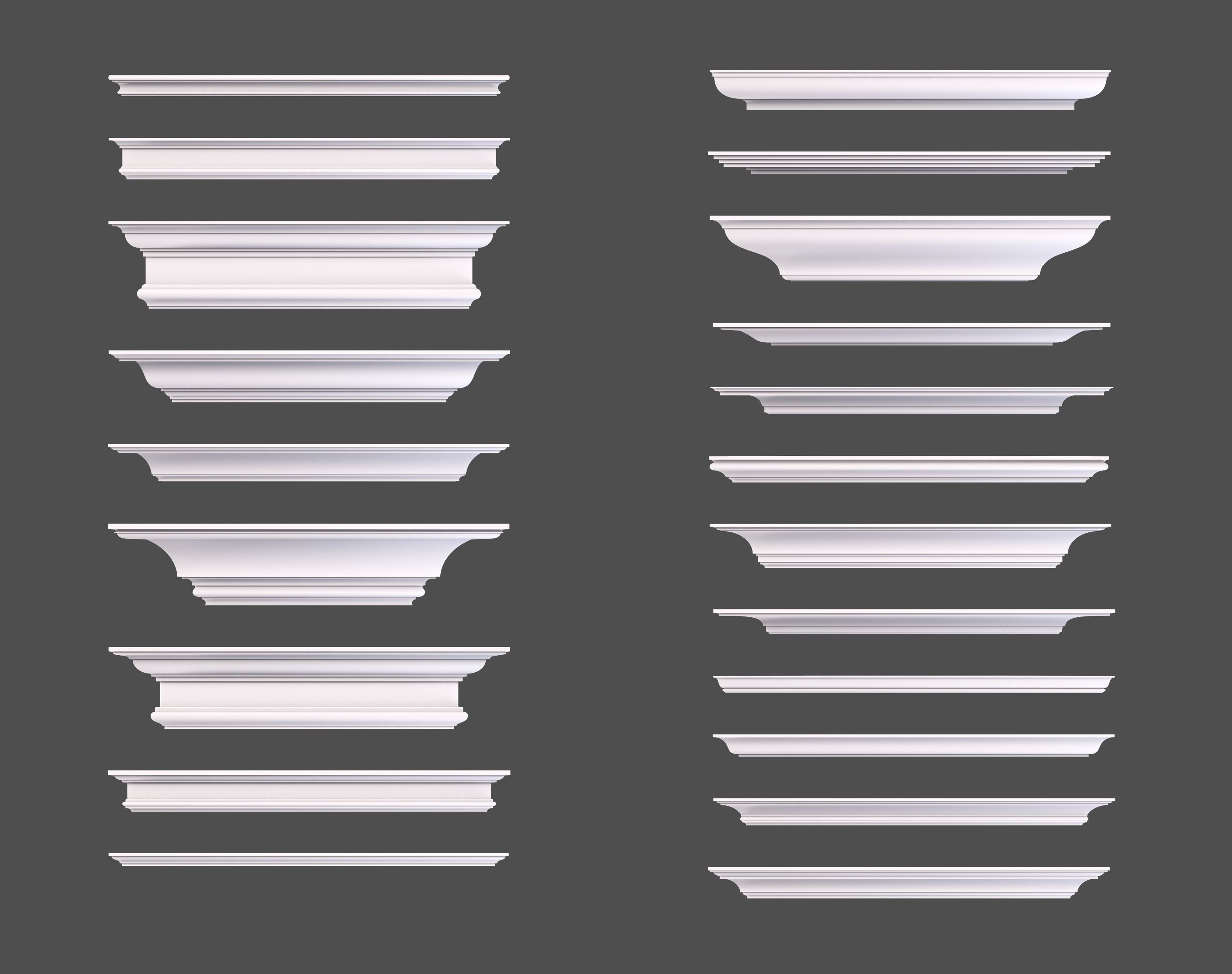 Set of Cornice Profiles | 3D model