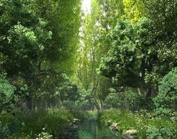 Riparian Forest Scene 03 garden 3D