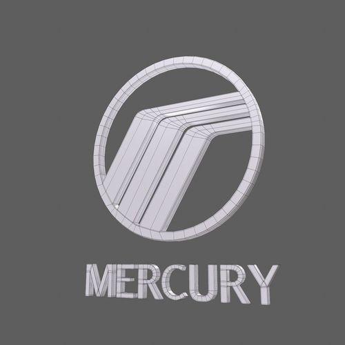 Mercury Car Logo Keychain 3d Model Cgtrader