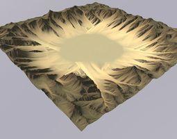 3D model Lowpoly Desert MTH061