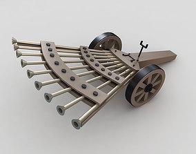 3D model DaVinci Machine Gun