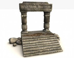 ancient entrance with stones 3d model