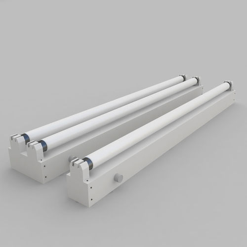 3D Strip Fluorescent Fixture Single and Dual | CGTrader