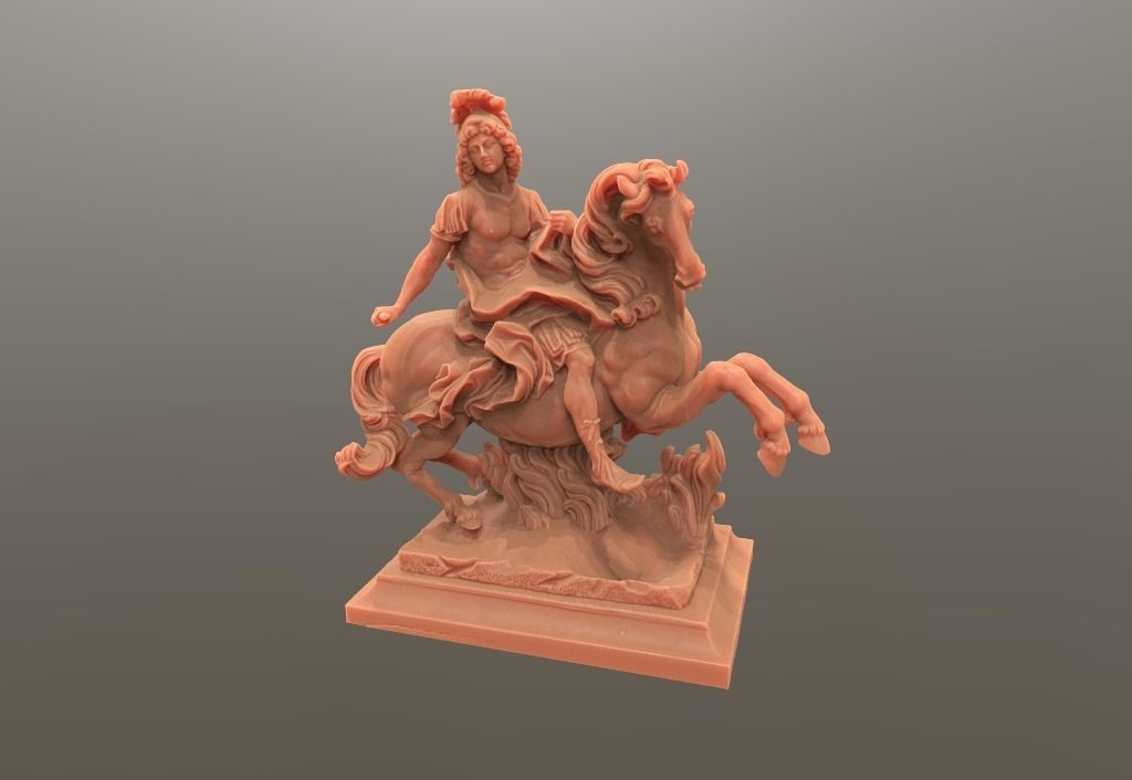 Louis King  Statue  on horse