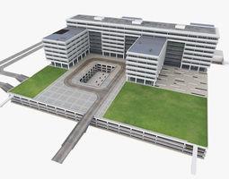 Research Center Building 3D asset