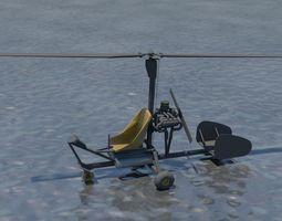 Gyrocopter 3D asset