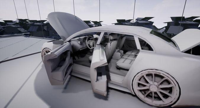 Generic Small 4 Door Sedan Model Obj Mtl S Fbx Stl Blend Dae 26