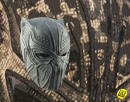 Killmonger Golden Jaguar full mask 3D printable model