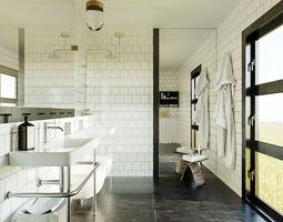 Bathroom scene for Cinema 4D and Corona 3D model