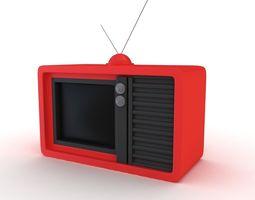 3D model electronic vintage tv