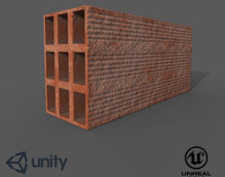 Brick Realistic - Low Poly - Game ready 3D model