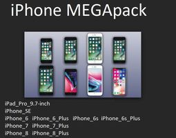 iPhone MEGApack with Apple original dimensions 3D model