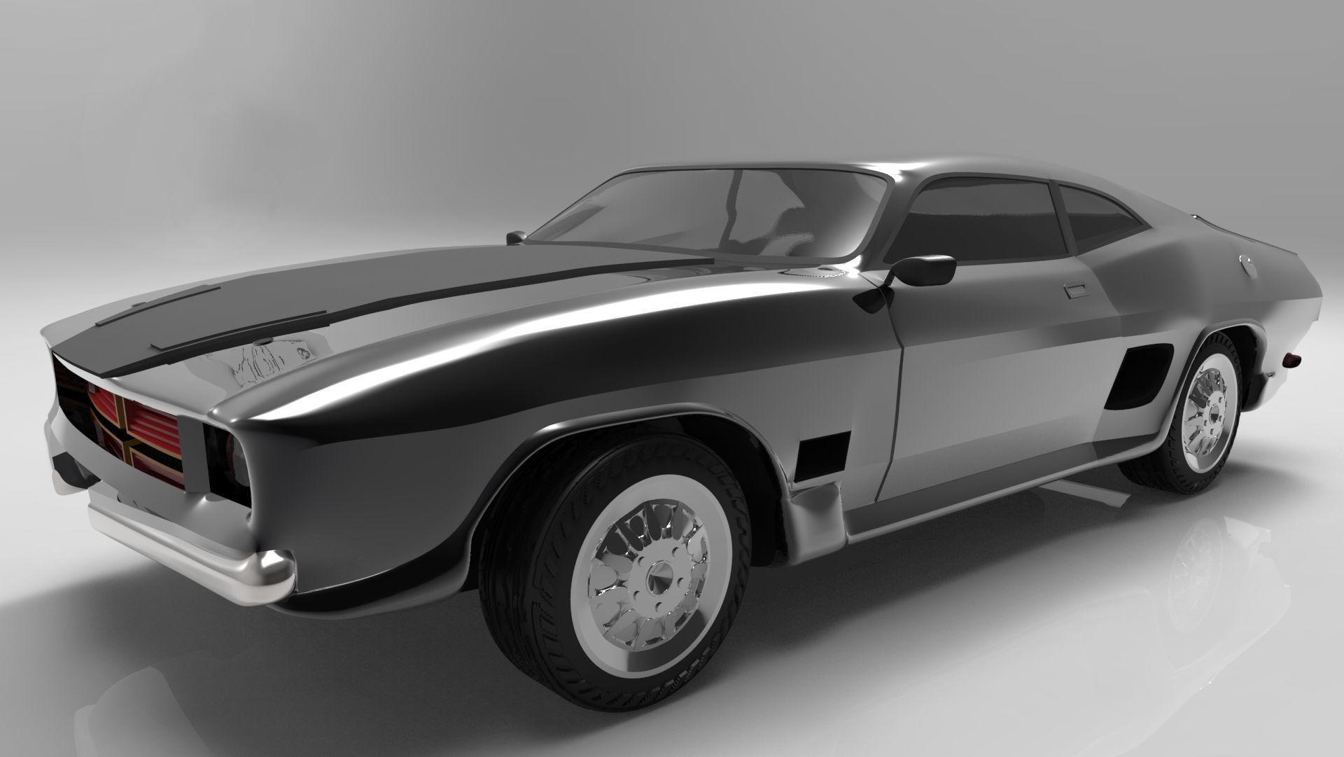1967 fastback 3d model