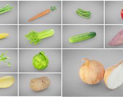 3D asset Vegetables Collection