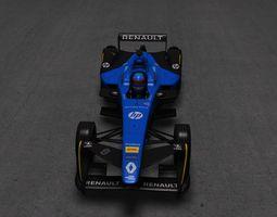 3D model low-poly Formula e Renault e dams