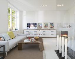 3D model interior room ref design