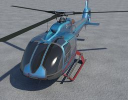 Eurocopter EC-130 Big helicopter 3D model