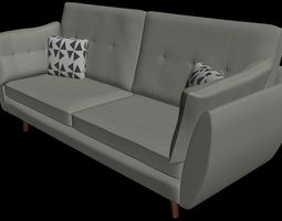 3D Sofa and pillows