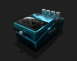 3D asset Guitar Pedal