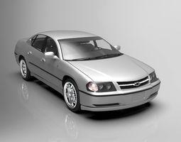 chevrolet impala 2003 model low poly VR / AR ready