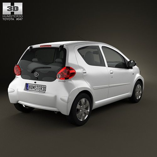 Toyota Aygo 5 Door 2013 3d Model Cgtrader
