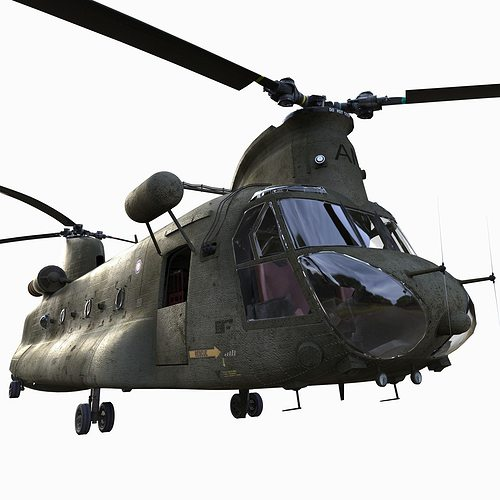 chinook ch-47 3d model rigged fbx ma mb 1