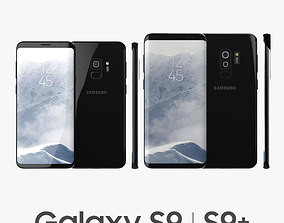 Samsung Galaxy S9 and S9 Plus Black 3D model