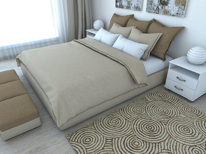 nice bedroom 3d model obj mtl fbx hrc xsi dae skp wrl wrz 1