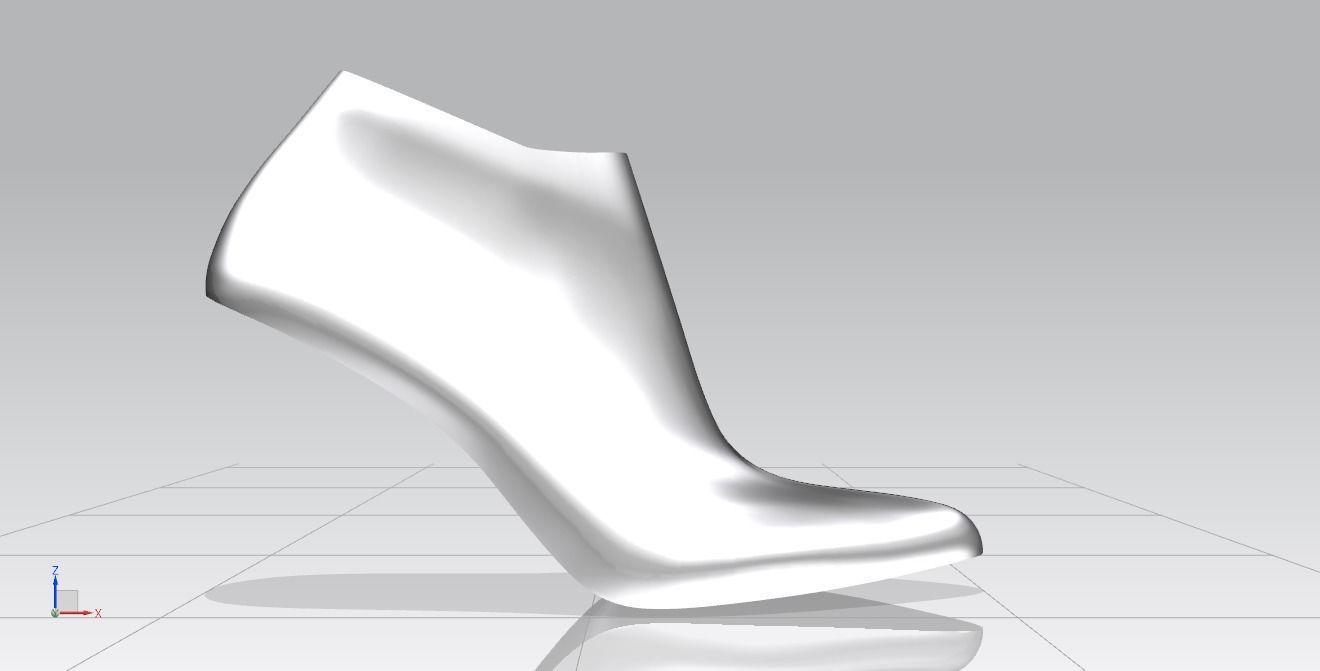 dad88b6fab high heel shoe last 3D print model   CGTrader