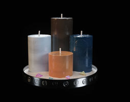 3D The 4 Elements Candles