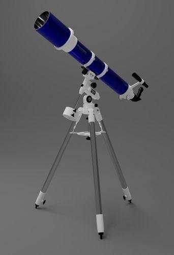 telescope celestron omni xlt 120 3d model low-poly rigged obj mtl 3ds fbx blend 1