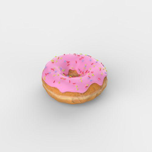 donut  3d model obj mtl fbx c4d 1