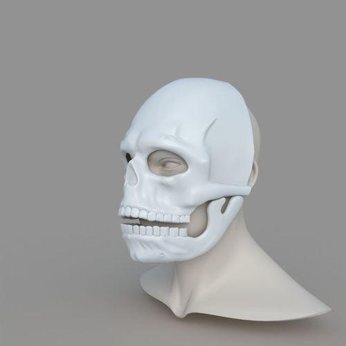 james bond spectre mask skull skeleton scary halloween carnival  3d model stl 1