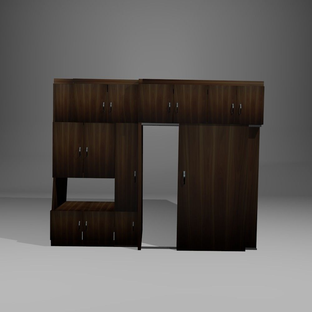 laminate cabinet with sliding doors