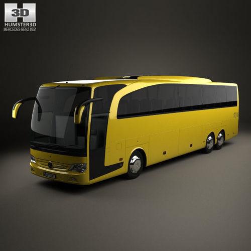 mercedes-benz travego m bus 2009 3d model max obj mtl 3ds fbx c4d lwo lw lws 1