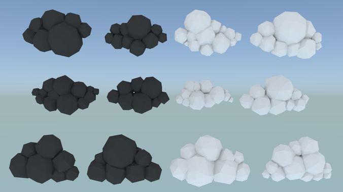 12 mobile vr and ar ready clouds 3d model obj mtl 3ds fbx stl blend 1