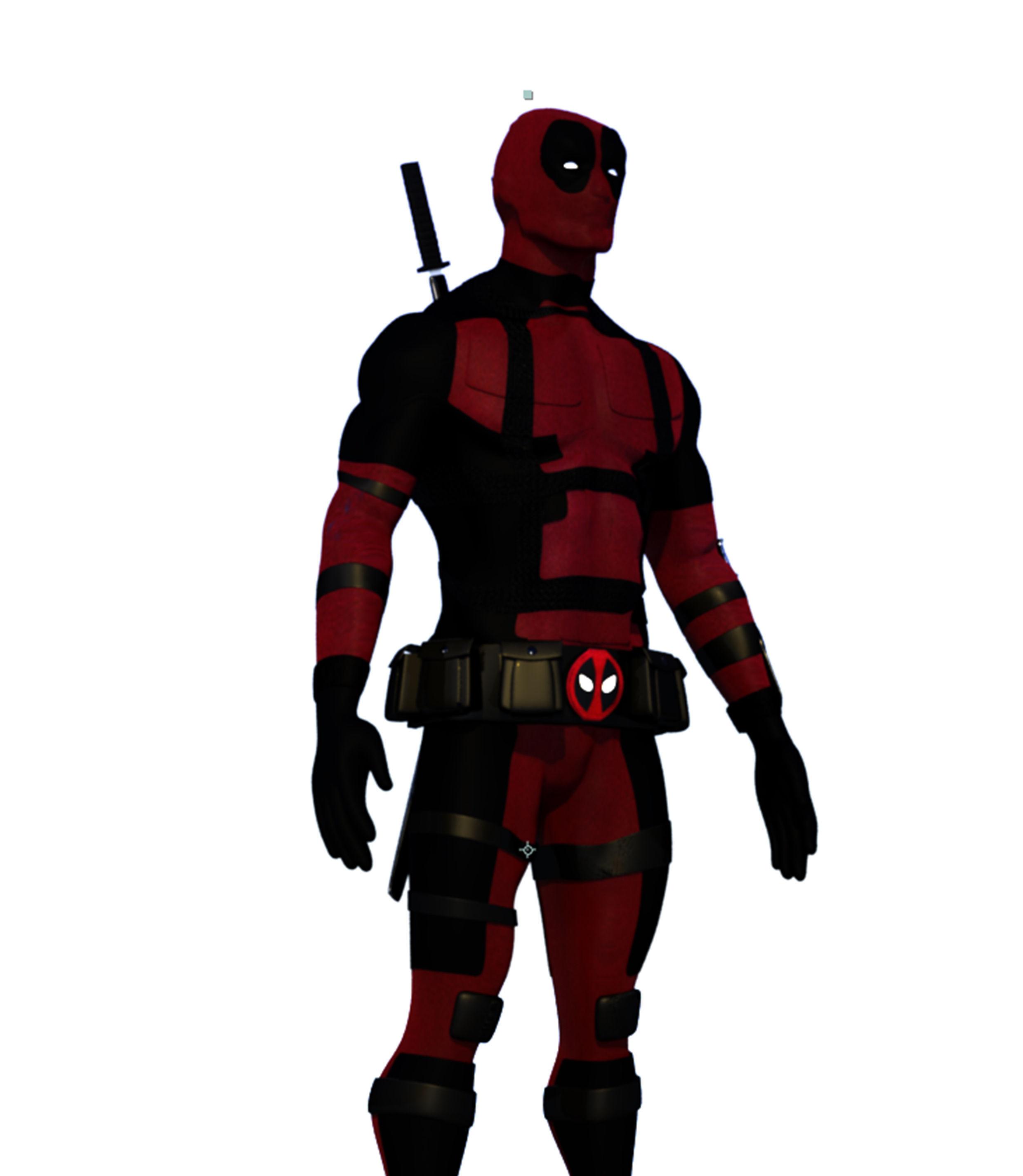 Deadpool 3d Print Model Cgtrader