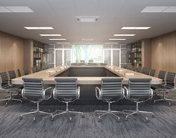 modern-meeting 3D model Meeting room