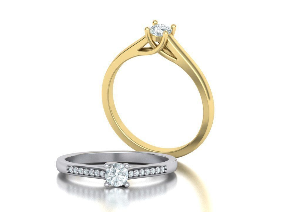 Engagement solitaire 4 prong ring own design 0159