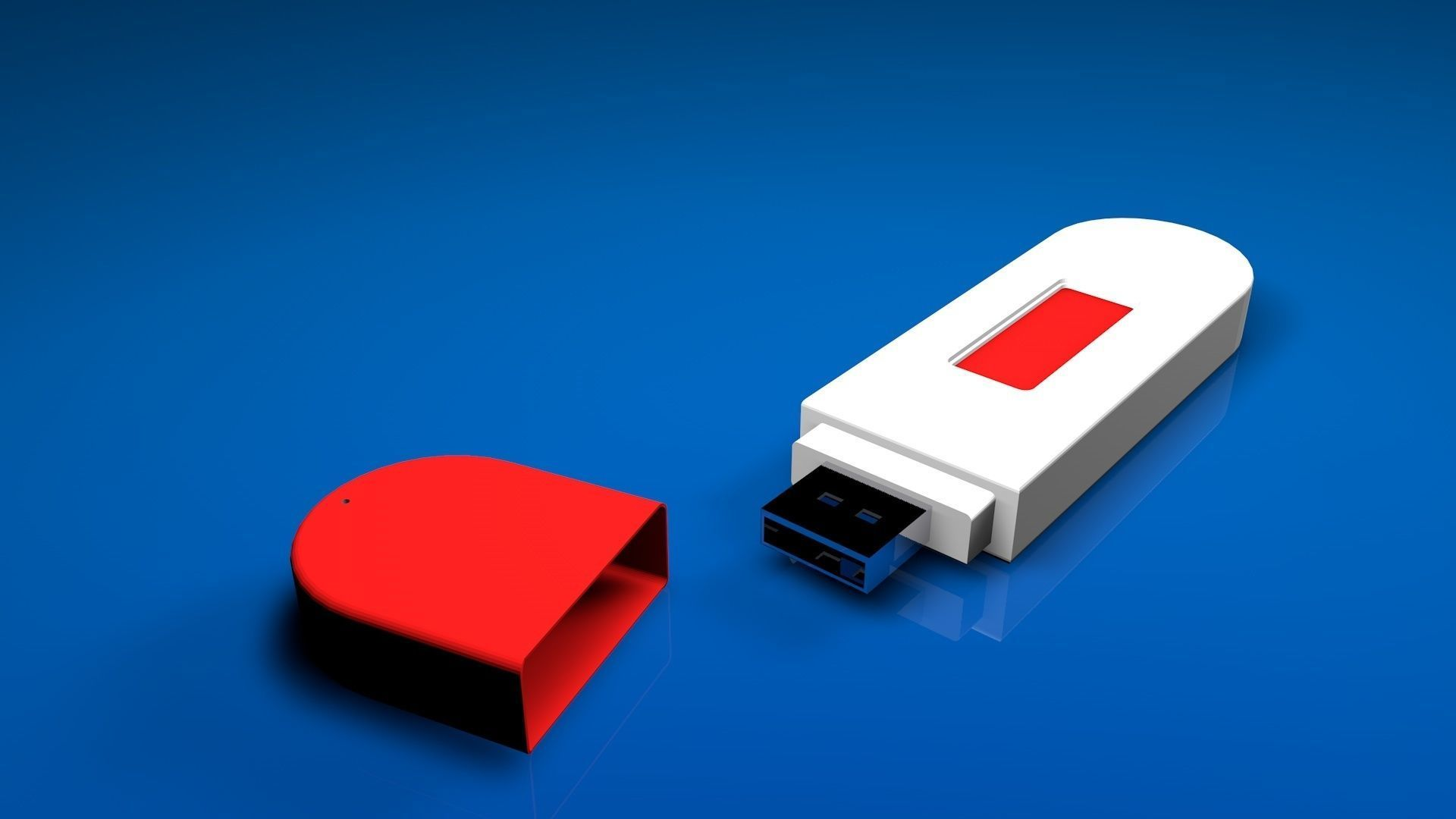 USB Flash Pendrive 3D model