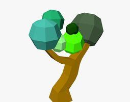Cartoon Tree Low Poly 3D model