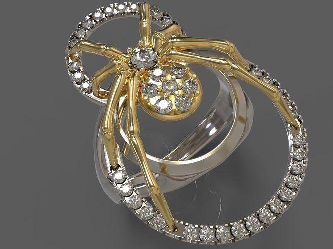 spider ring 3d model stl 1