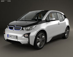 3d bmw i3 with hq interior 2014
