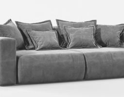 Sofa Moon007 Low poly 3D asset