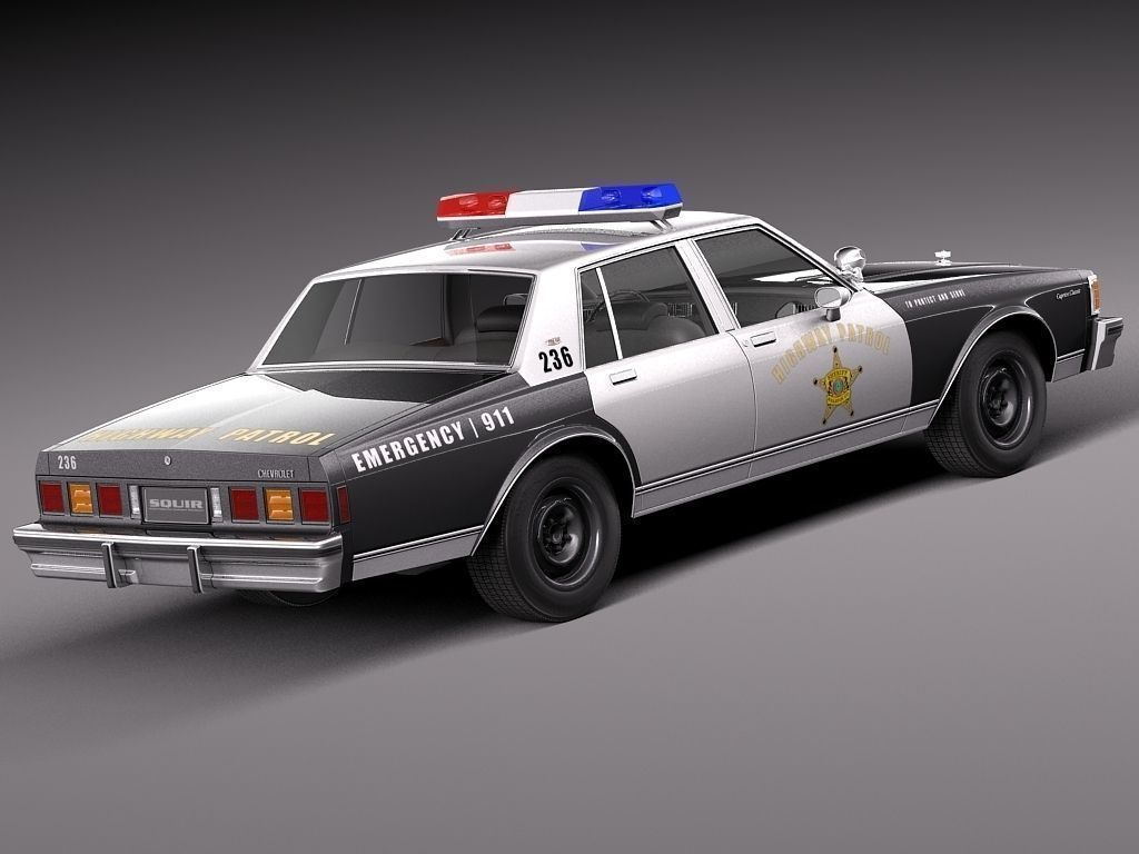 chevrolet caprice sheriff 1978 police car 3d model max obj 3ds fbx c4d lwo lw lws. Black Bedroom Furniture Sets. Home Design Ideas