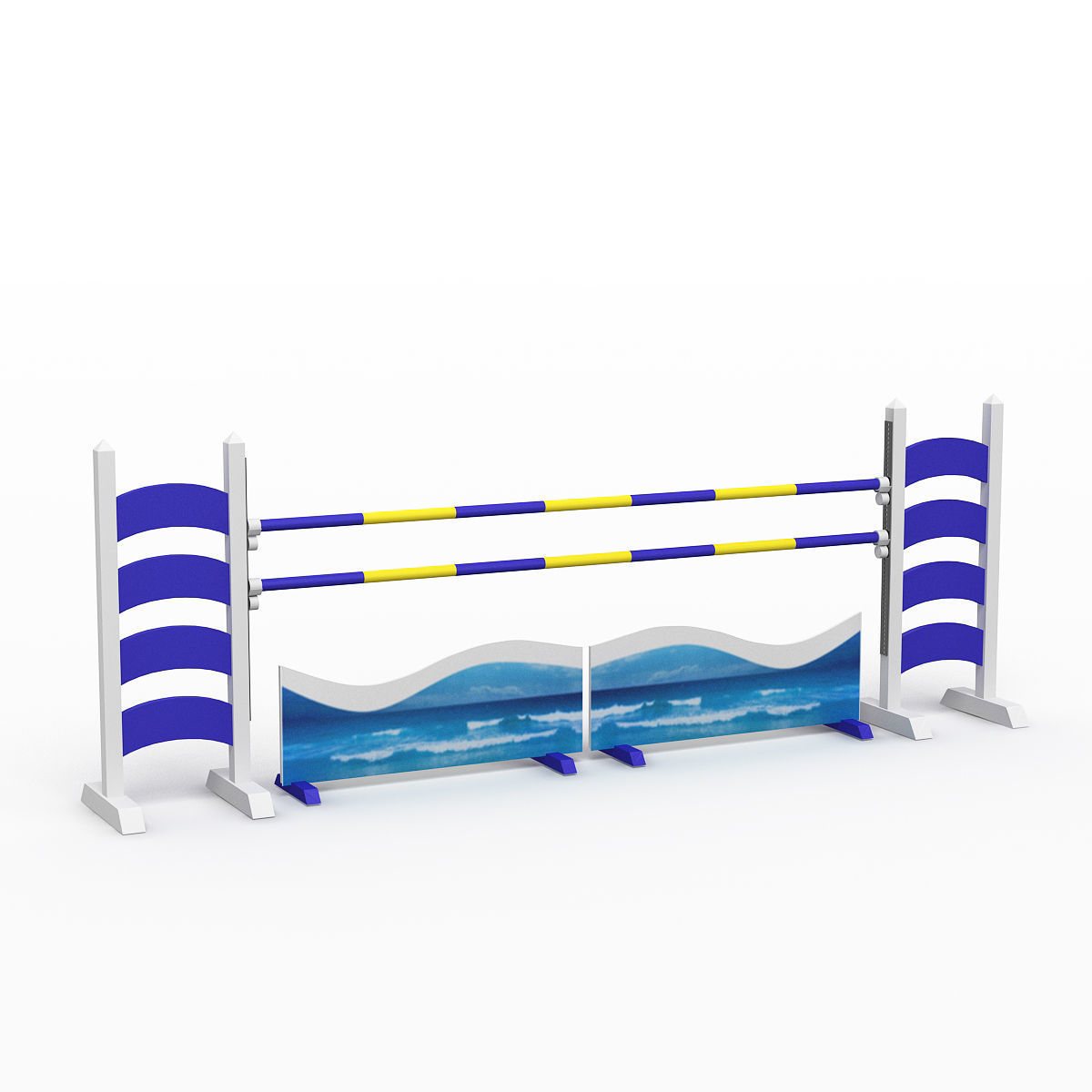 3d 3d Horse Jump Obstacle Cgtrader