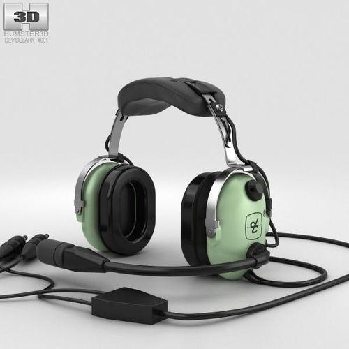 david clark standard aviation headsets 3d model max obj mtl 3ds fbx c4d lwo lw lws 1
